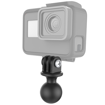 Gopro camera mounted with RAM ball