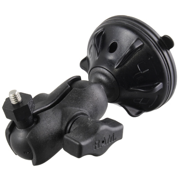 "RAP-B-224-2-A-379-252025U - RAM Twist-Lock Low Profile Suction Mount with 1/4""-20 Camera Adapter"