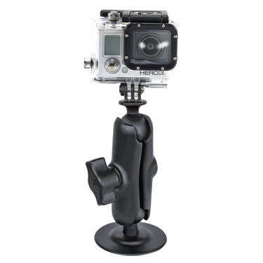 RAP-B-378-202U-GOP1 - RAM Flex Adhesive Double Ball Mount with Action Camera Adapter
