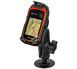RAP-B-378-GA48 - RAM EZ-Roll'r with Flex Adhesive Mount for Garmin eTrex 30 + More