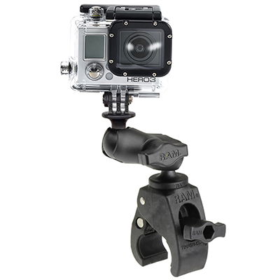 RAP-B-400-A-GOP1U - RAM Tough-Claw Small Clamp Mount with Universal Action Camera Adapter