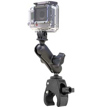 RAP-B-400-GOP1U - RAM Tough-Claw Double Ball Mount with Universal Action Camera Adapter