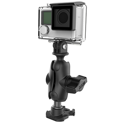RAP-B-GOP2-A-GOP1U - GOPRO BASE & CAMERA ADAPTER W/ SHRT ARM