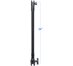 "RAP-CB-201-24U - RAM SOCKET ARM W/ 1.5"" AND 1"" SOCKET 24"""