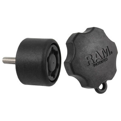 RAP-S-KNOB7-6U - RAM Pin-Lock 6-Pin Security Knob for D & E Size Socket Arms