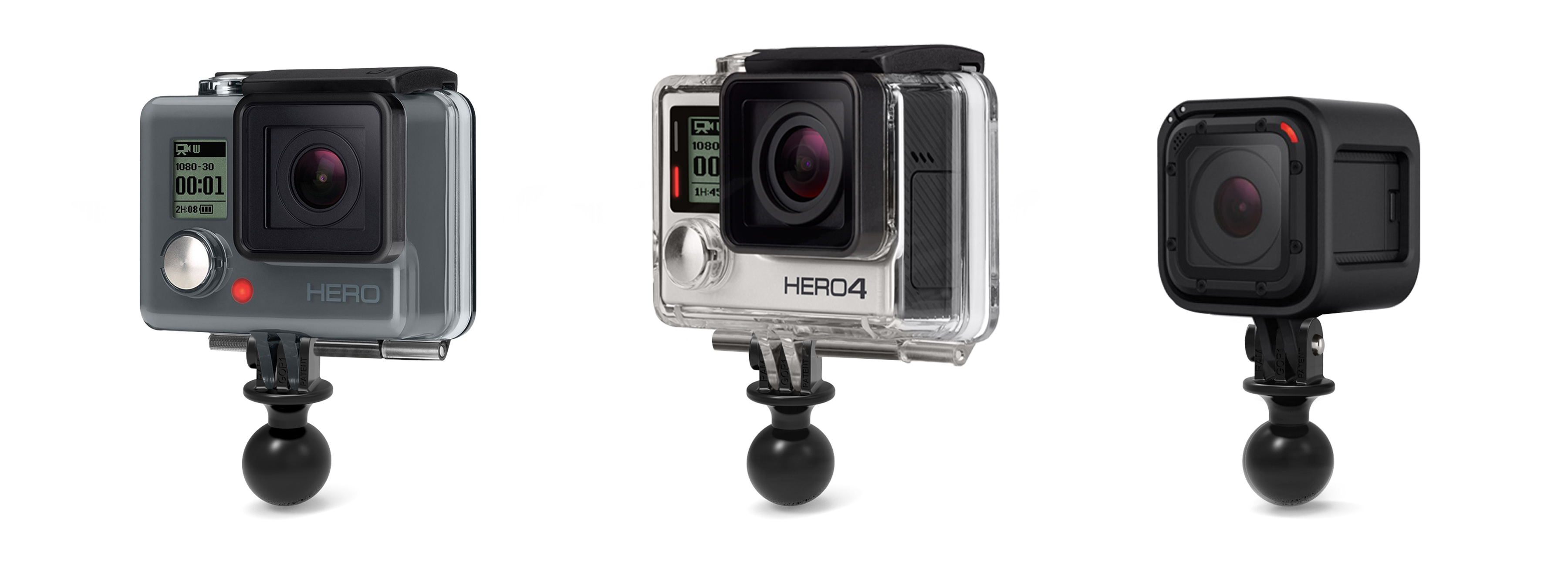 Ram Gopro Mounts For All Gopro Cameras Ram Mounts