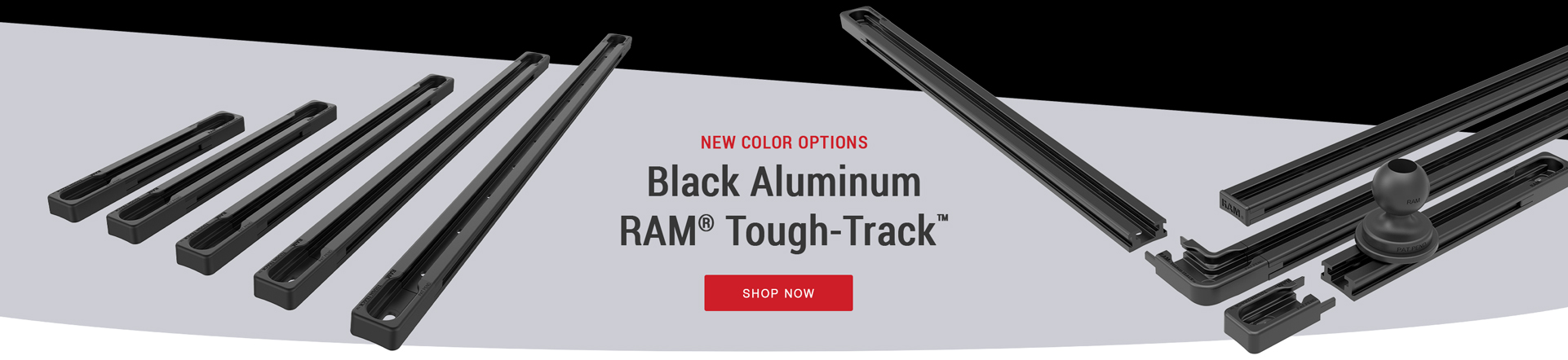 Black Aluminum RAM® Tough-Track™