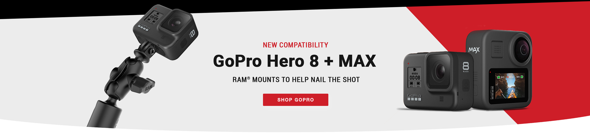 New comptability with GoPro Hero 8 + MAX