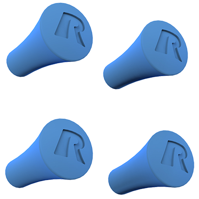 RAM® X-Grip® Blue Rubber Cap 4-Pack