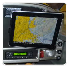 iPad Mounted in RV-9A Airplane