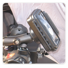 iPod in medium size AQUA BOX mounted on a 2003 Honda ST-1300