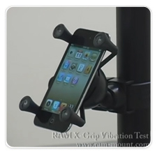 RAM EZ-Strap Rail Mount with Universal X-Grip Cell Phone Holder Shake Vibration Video