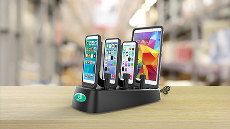 Multi device charging dock