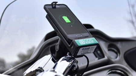 GDS Dock on Motorcycle