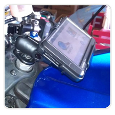 Garmin nuvi 205W Mounted on Honda CBR 600rr