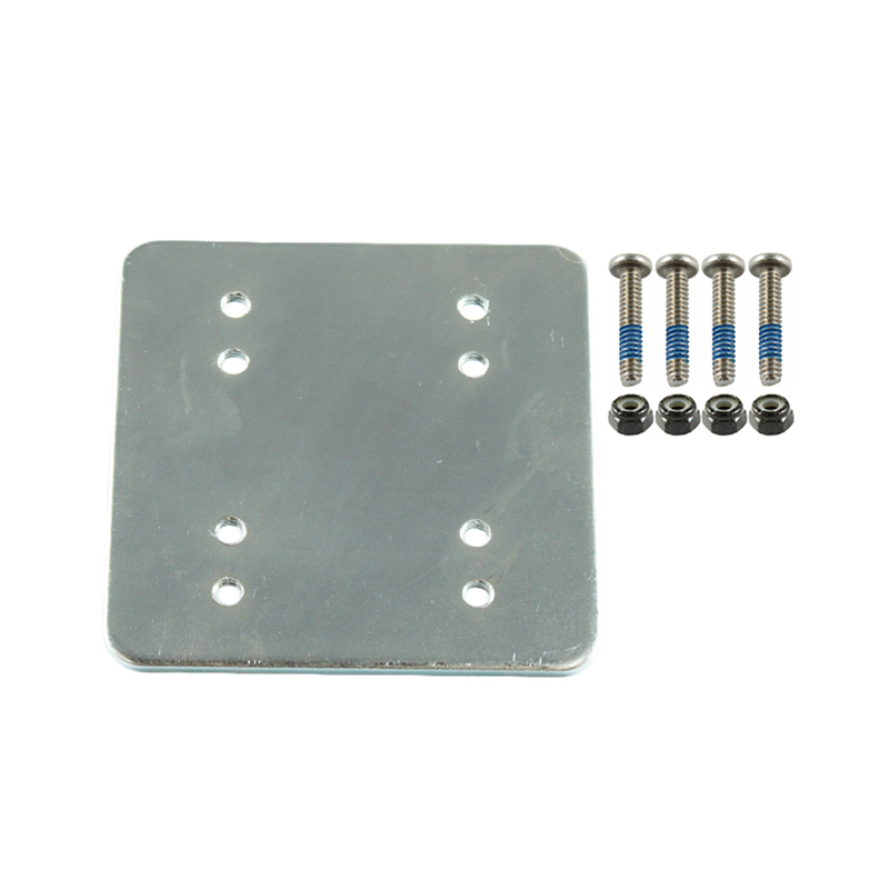 3 x 3 backer plate w/ AMPS and 2 x 2.5 with hardware