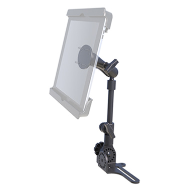 "RAM Universal No-Drill™ RAM POD HD Vehicle Mount with Double Socket Arm & 2.5"" Round Base"