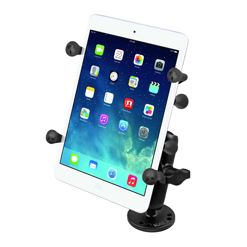 "RAM Flat Surface Mount with Universal X-Grip® Holder with 1"" Ball for 7"" Tablets"