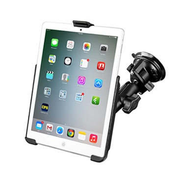 RAM Twist Lock Suction Cup Mount with EZ-ROLL'R™ Model Specific Cradle for the Apple iPad mini 1-3