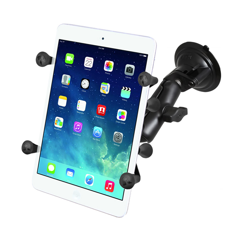"RAM Twist Lock Suction Cup Mount with Universal X-Grip® Holder with 1"" Ball for 7"" Tablets"