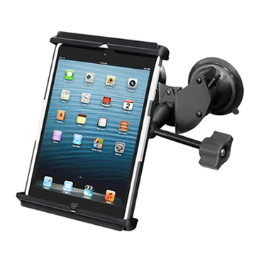 "RAM Double Twist Lock Suction Cup Mount with Retention Knob & Tab-Tite™ Universal Clamping Cradle for for 7"" Tablets"