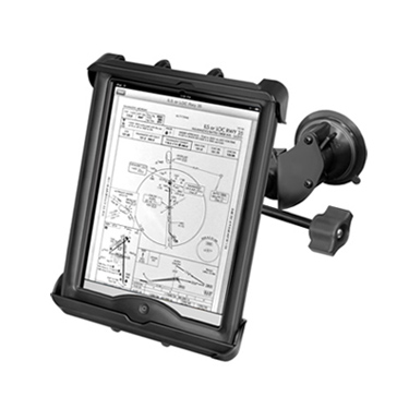 "RAM Double Twist Lock Suction Cup Mount with Retention Knob & Tab-Tite™ Universal Clamping Cradle for 10"" Tablets"