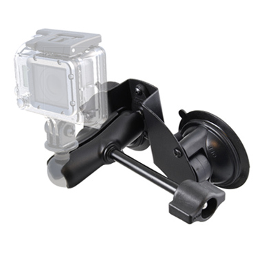 RAM Double Suction Cup Mount with Standard Length Double Socket Arm & Retention Knob