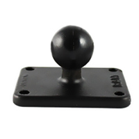 "RAM 2"" x 2.25"" Rectangle Base with 1"" Ball"