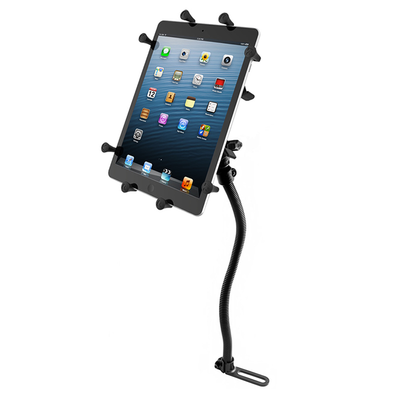 "RAM Pod I Universal No-Drill™ Vehicle Mount with Universal X-Grip® Holder for 10"" Large Tablets"