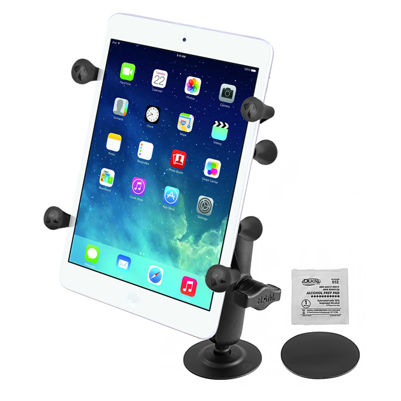"RAM Flex Adhesive Mount with Universal X-Grip® Holder with 1"" Ball for 7"" Tablets"