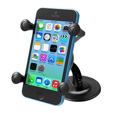 RAM Lil Buddy™ Adhesive Stick Base Mount with Universal X-Grip® Cell Phone Holder