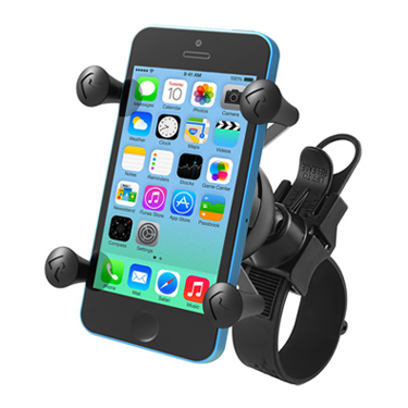 RAM EZ-Strap™ Rail Mount with Universal X-Grip® Cell Phone Holder
