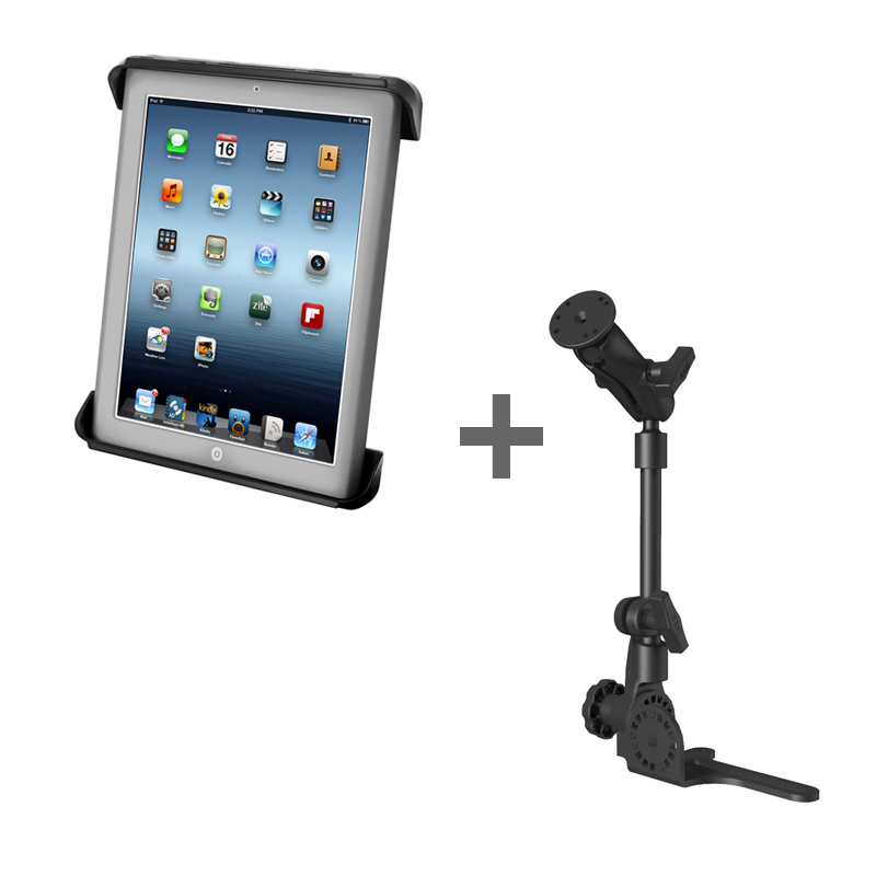 "RAM POD HD™ Mount with Tab-Tite™ Cradle for 10"" Tablets WITH OR WITHOUT LIGHT DUTY CASE"