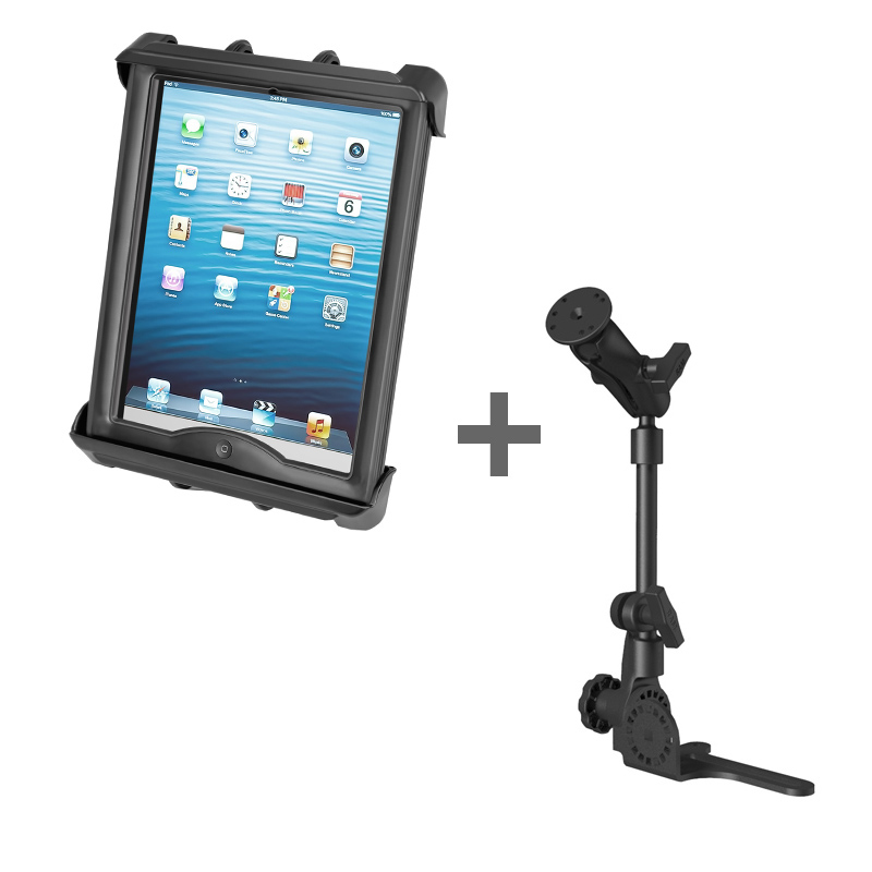 "RAM POD HD™ Mount with Tab-Tite™ Cradle for 10"" Tablets WITH HEAVY DUTY CASE"