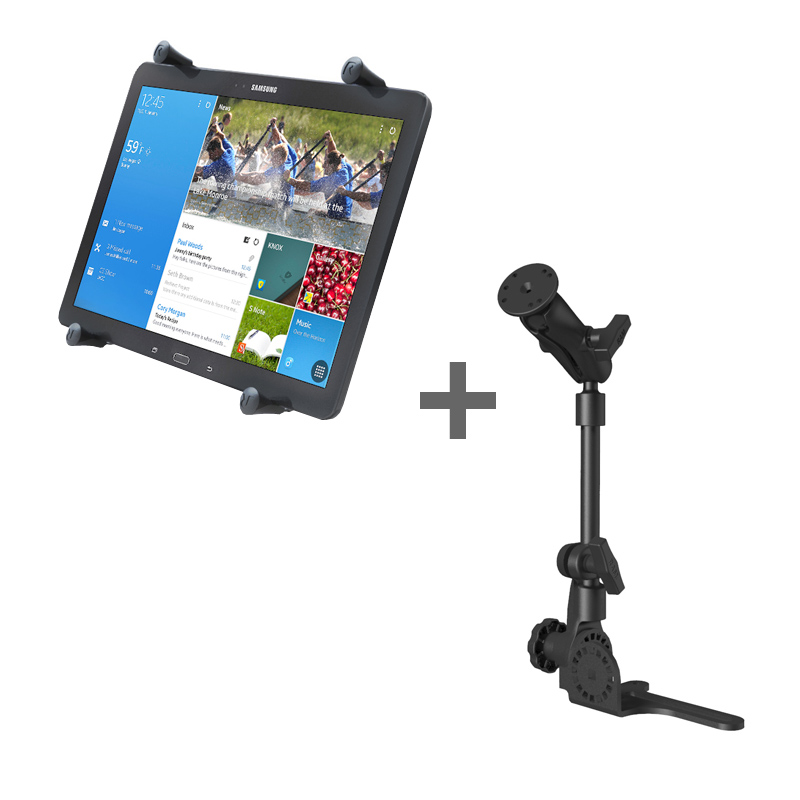 "RAM POD HD™ Mount with X-Grip® (Patented) Cradle for 12"" Tablets WITH OR WITHOUT CASE"