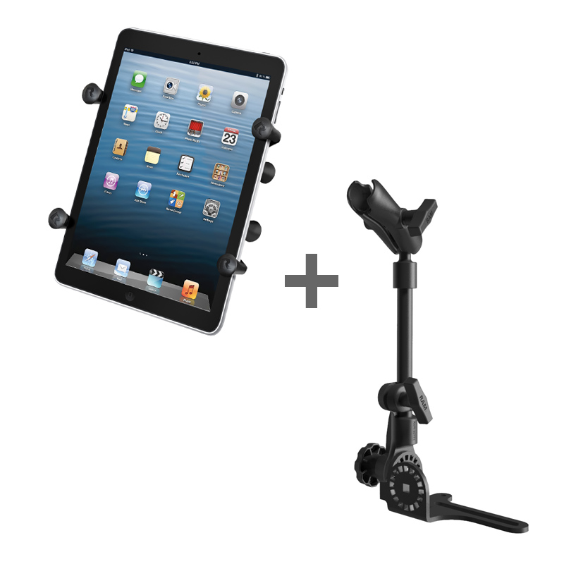 "RAM POD HD™ Mount with X-Grip® (Patented) Cradle for 7"" Tablets WITH OR WITHOUT CASE"