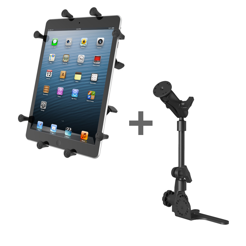 "RAM POD HD™ Mount with X-Grip® (Patented) Cradle for 10"" Tablets WITH OR WITHOUT CASE"